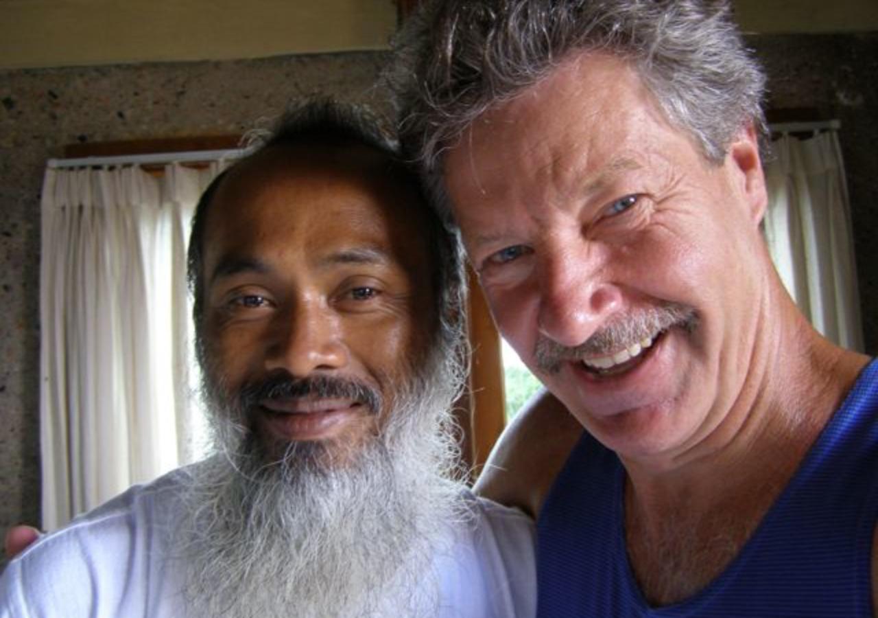 With healer Ketut Arsana