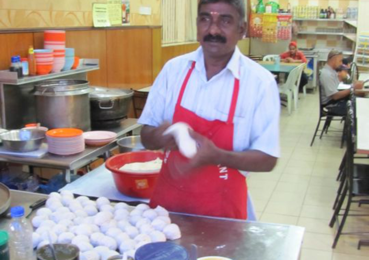 Making Fresh Roti