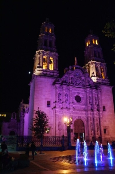 Cathedral purple light