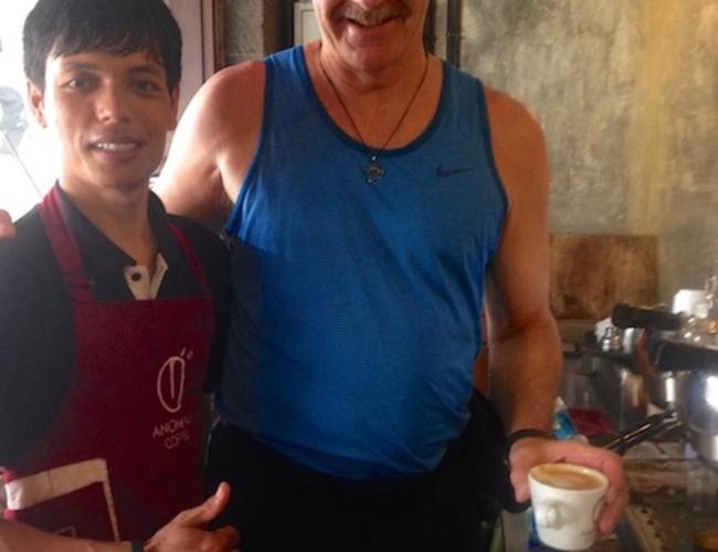At Anomali Coffee, Ubud, Bali
